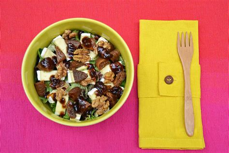 cuisiner des figues salade brie figues radis