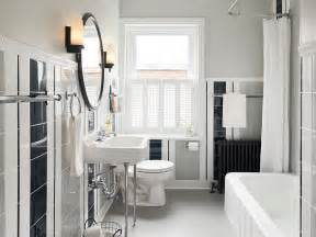vintage black and white bathroom ideas a hint of retro in the bathroom with white black and gray