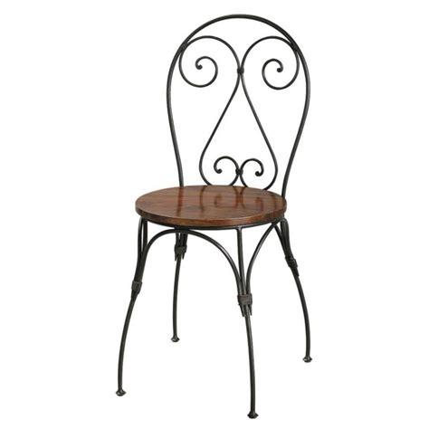 chaise bois et fer chaise cœur en bois de sheesham massif et fer forgé