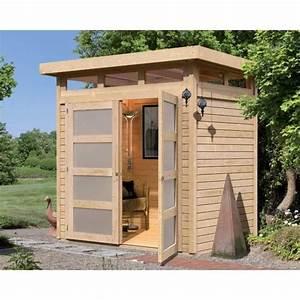 Abri de jardin à toit plat 3m² en bois massif 1 Achat / Vente abri jardin chalet Abri de
