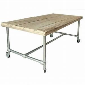 Werkbank Mit Rollen : tisch mit rollen im industriedesign esstisch mit tischbeinen aus metall l nge 240 cm loft ~ Orissabook.com Haus und Dekorationen