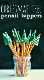 christmas tree pencil toppers craft great class gift no time for flash cards