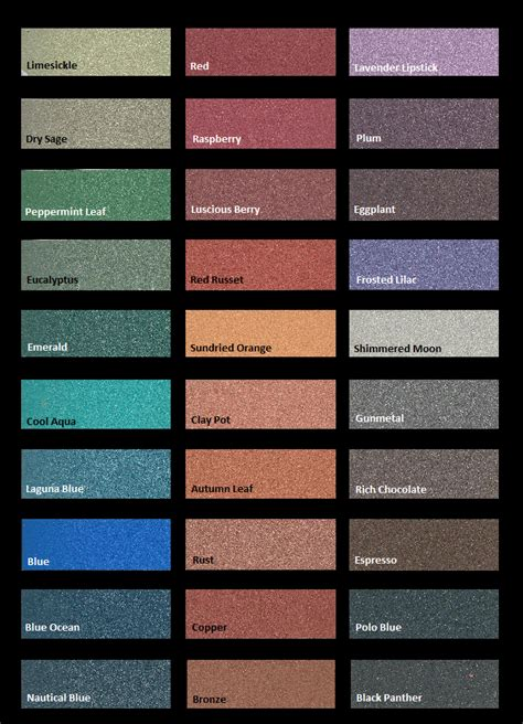 modern masters metallic plasters color chart projects