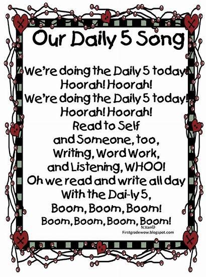 Daily Song Five Grade Songs Kindergarten Transition