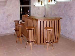 Bar En Bois : meubles de cave meubles en merrain ~ Teatrodelosmanantiales.com Idées de Décoration