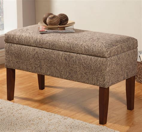 Beige Fabric Storage Bench  Stealasofa Furniture Outlet