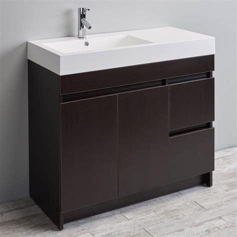 eviva beach 39quot wengedark brown modern bathroom vanity
