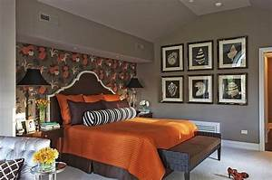 what colors work well with brown in the bedroom With brown and orange bedroom ideas