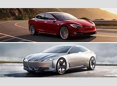 Electric car comparison Tesla Model S vs BMW i Vision