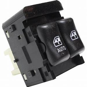 New Power Window Switch Front Black Chevy Chevrolet