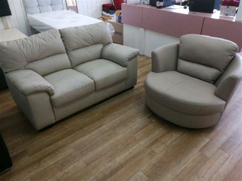 Get the best deal for faux leather swivel chair chairs from the largest online selection at ebay.com. Cream leather 2 seater sofa and swivel chair | in Hamilton ...