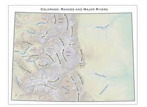 Colorado Mountain Ranges Map