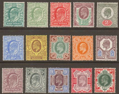 edward vii basic stamp set   unmounted mint