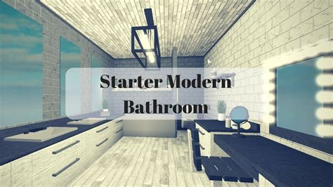 roblox bloxburg starter modern bathroom  youtube
