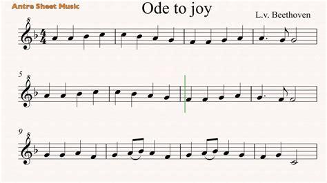 My 3rd grade kids loved it! Ode to joy- Recorder sheet music - YouTube