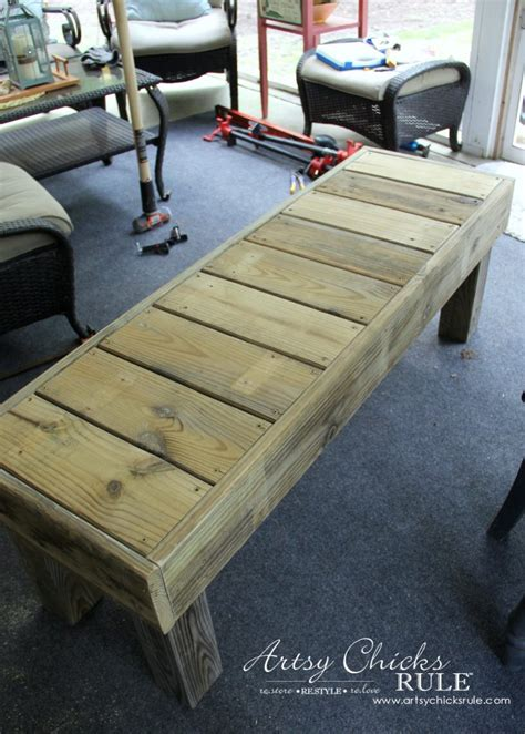 simple diy outdoor bench super easy diy