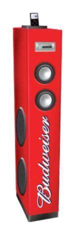 new budweiser stereo speaker tower ipod iphone bud light