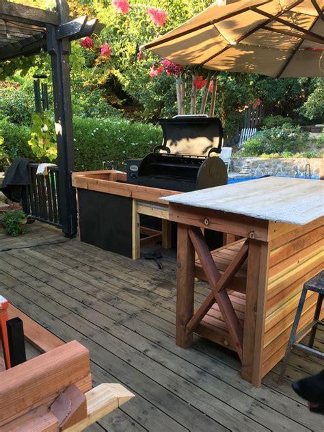diy outdoor kitchensmoker outdoor kitchen