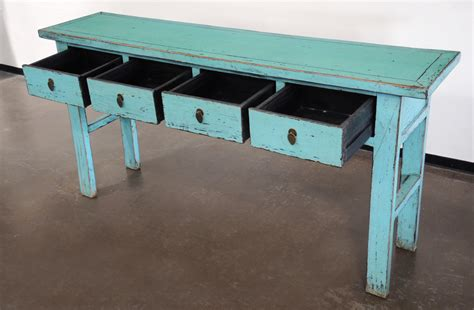 turquoise console entry hallway sofa table with drawers console tables - Turquoise Sofa Table
