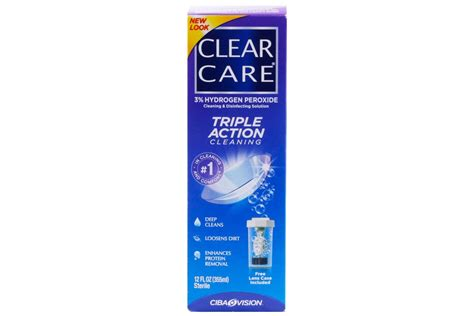 care and clean clear care cleaning and disinfecting contacts solution 12 floz 360ml authenticsmitheyeglasses