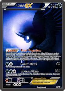 Luna EX Pokemon card