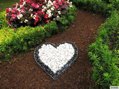 Korb Herz Deko Garten Schale Grab Pflanzen Übertopf Blumen
