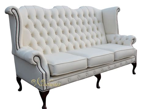 white leather wingback chair with deck image mag