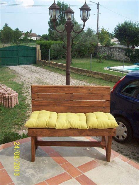 diy pallet bench instructions pallet furniture plans