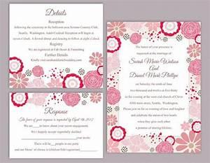 diy wedding invitation template set editable word file With wedding invitation editable format free