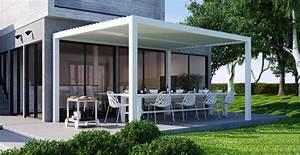 pergola a lames orientables a aix en provence pour With terrasse couverte en alu