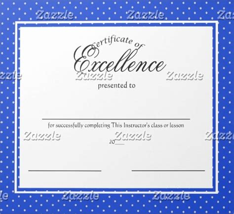 excellence certificate template  word  psd