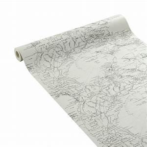 Papier Peint Planisphère : papier peint papier sur papier fresco duplex planisph re beige id es pour la maison ~ Teatrodelosmanantiales.com Idées de Décoration