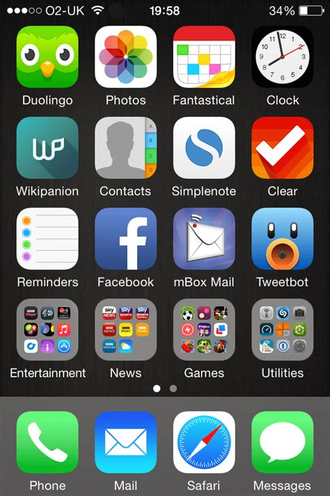 new iphone home screen my iphone 4s home screen