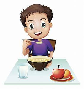 Boy Eating Clip Art, Vector Images & Illustrations - iStock
