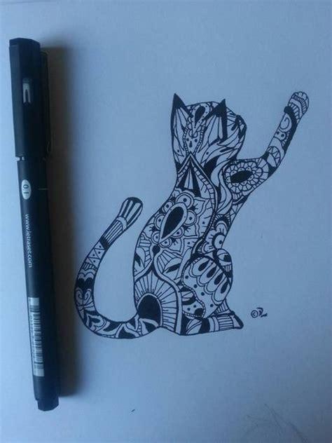 dessin chat pour tatouage femme mandala tatouage femme