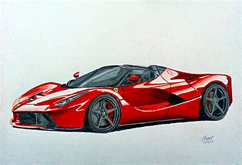 ferrari drawing la ferrari spider by pavee12120 on deviantart