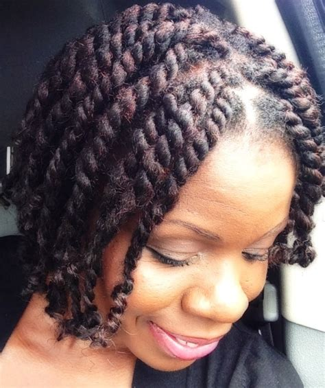 natural hairshort chunky twists  marley hairtwisted