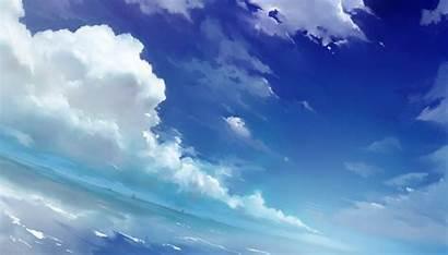 Sky Anime Clouds Wallpapers Sea Kimi Aesthetic