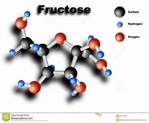 Fructose Molecule Stock Illustration  Illustration Of