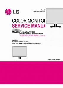 Lg W1934s Flatron Service Manual Download  Schematics