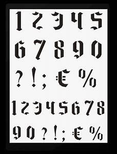Buchstaben Schablone Metall : wand mal motiv schablonen hobby bastel mix shop berlin gotische zahlen und sonderzeichen ~ Frokenaadalensverden.com Haus und Dekorationen