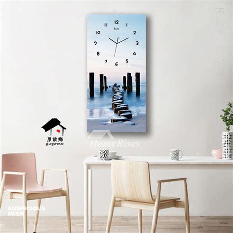 rectangular wall clock long analog   creative