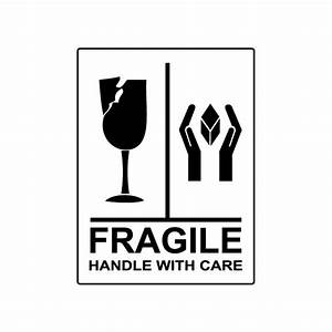 Pin Fragile Handle With Care Vector Image Black Red And ...