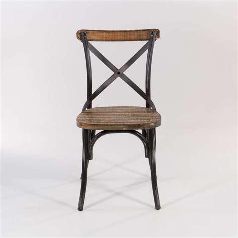 chaise de bistrot vintage chaise bistrot vintage en bois et métal patiné madie 4