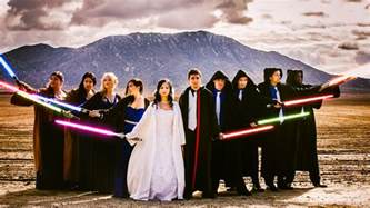 themed centerpieces for weddings wars wedding on 5 000 budget features lightsabers