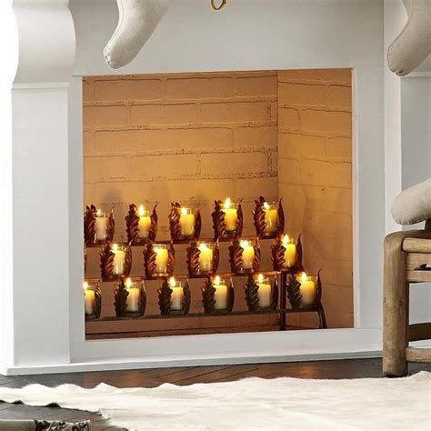 fireplace candle holders fireplace candle holders for a warm environment in decors