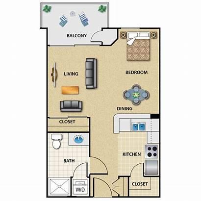 Studio Plan Apartment Floor Apartments Angeles Los