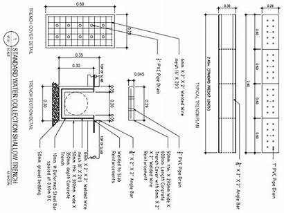 Trench Shallow Cad Structural Dwg Water Drawing