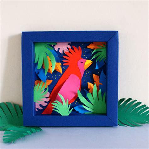tropical paper decoration latelier canson