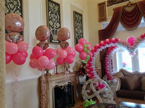 baby shower balloon centerpiece baby shower balloon